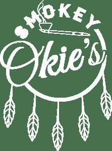 smokey okies logo in white